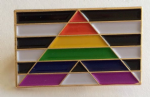 Straight Ally Pride Flag Rectangular Enamel Pin Badge